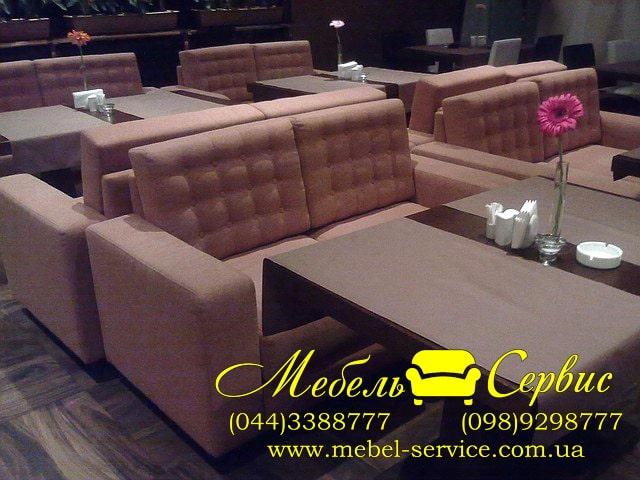 Перетяжка ресторанной мягкой мебели