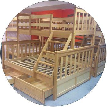 Трехместные двухъярусные кровати